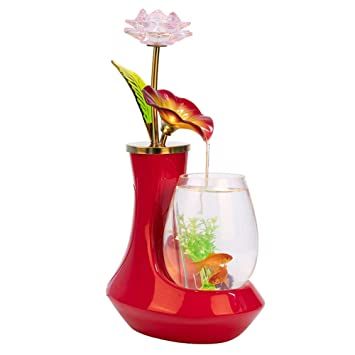 PIG Peceras de Cristal Cristal de cerámica Europeo Tanque de Peces Fuente de Agua