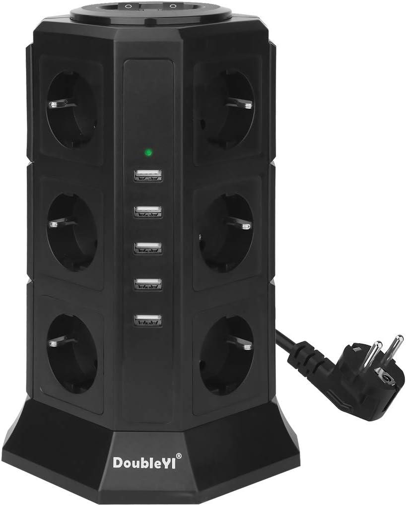 Ue Voyage Multiprise Avec 1 Sortie 4 Chargeur Usb Portable Voyage Parasurtenseur Chargeur Intelligent Socket Vert