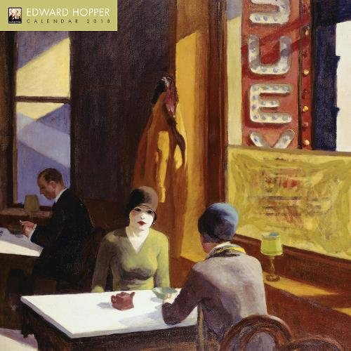 Edward Hopper 2018 12 x 12 Inch Monthly Square Wall Calendar by Flame Tree, American Realist Painter Art Artist