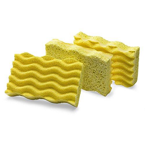 Libman Commercial 1075 Light-Duty Scrub Sponge, Cellulose, 4.5