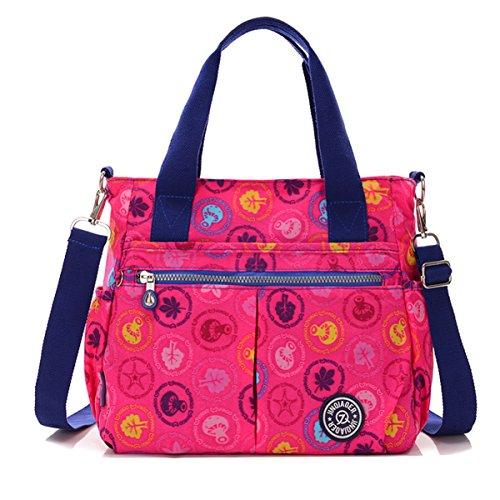 Handbag Resistant Tote Shoulder Pink Chou Detachable Hot Plants Tiny Messenger Water with Crossbody Strap Bag Nylon wqxACXnBF