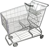 R. W. ROGERS RWR-PRE-490W Model #490W Shopping Cart, Dark Gray