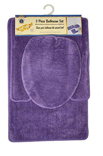 Royal Trading 3-Piece Bathroom Set, Purple