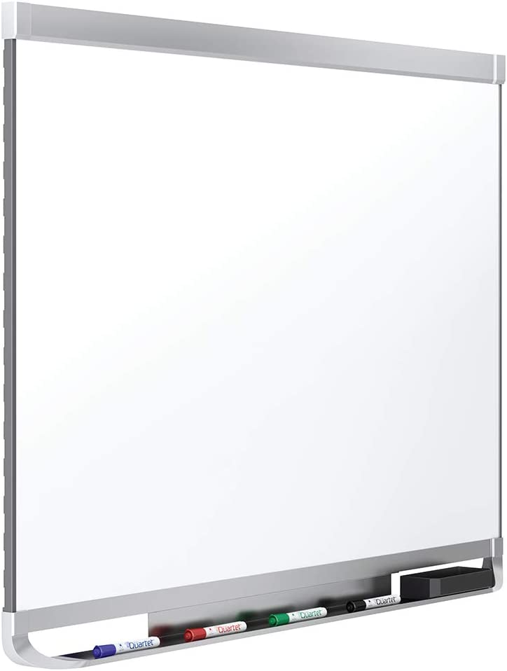 Quartet Magnetic Whiteboard, Porcelain, White Board, Dry Erase Board, 8' x 4', Aluminum Frame, Prestige 2 Duramax (P558AP2)