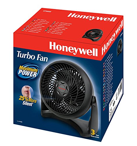 honeywell ht 900e turbo ventilator ventilateur puissant et silencieux noir top bricolage. Black Bedroom Furniture Sets. Home Design Ideas