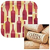 wine themed plates - Cheers Sip Sip Hooray Wine 7
