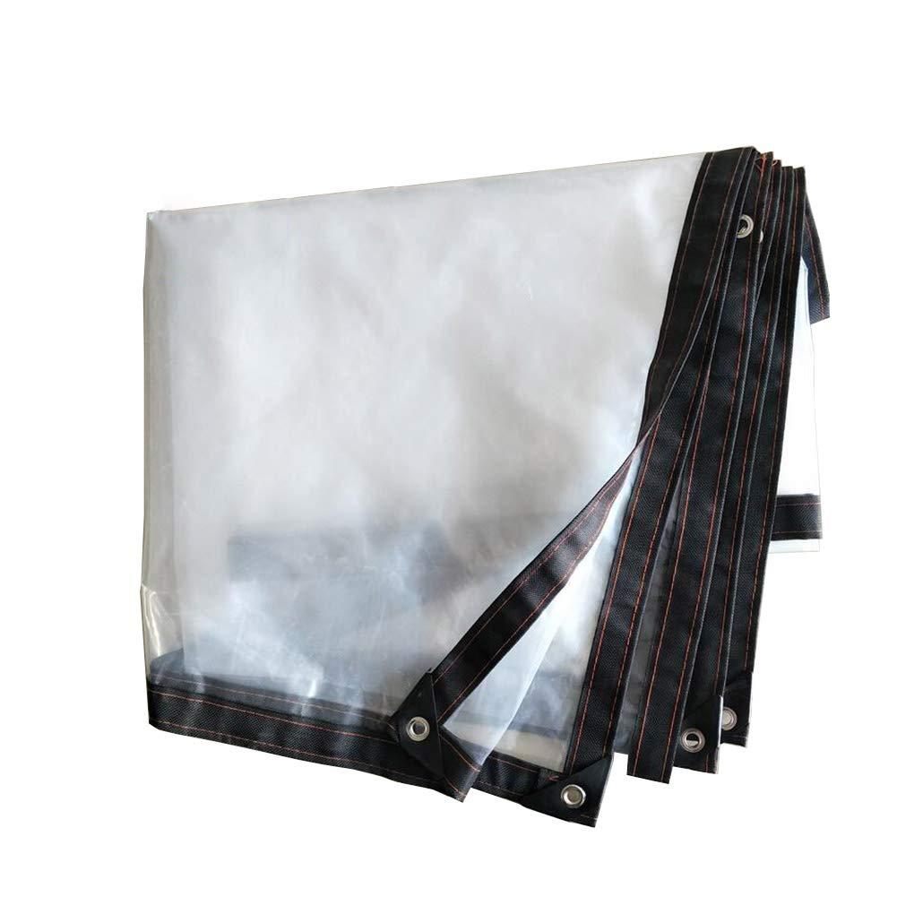 BU Plane Wasserdichte Und Winddichte Sonnencreme Der Plane Im Freien Weiß Transparent Mit Perforiertem Tarp-Bodenbelag-Hallenstoffregen 120G / M2 (größe : 2X5m)