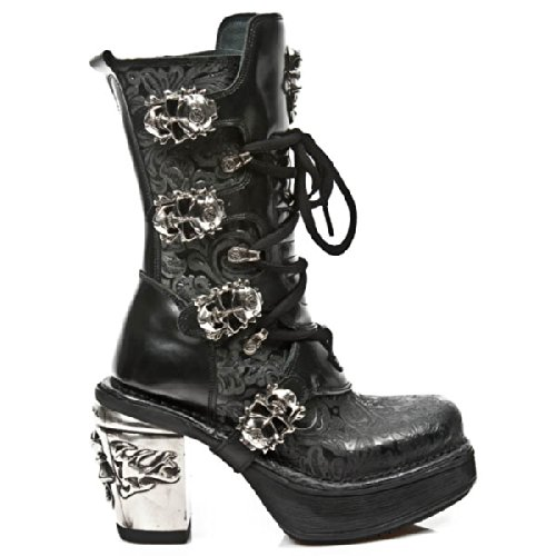 Newrock Nr M.8366 S1 Nero - New Rock Boots - Donna