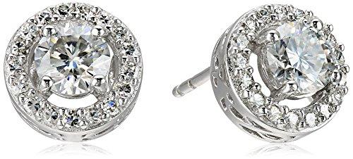 platinum-over-sterling-silver-vg-moissanite-framed-round-stud-earrings