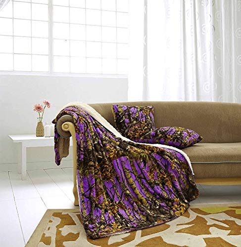 Regal Comfort The Woods Luxury 3pc Set Purple