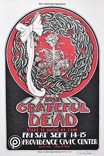 Grateful Dead Poster 1973 Signed by Randy Tuten