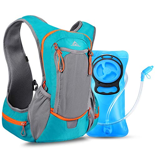 b9d4cb329b9 SKL Hydration Pack - Water Hydration Backpack with 2 Liter Water Bladder -  Keeps Liquid Cool up to 4 Hours - Outdoor Sports Gear for Running Hiking  Cycling ...