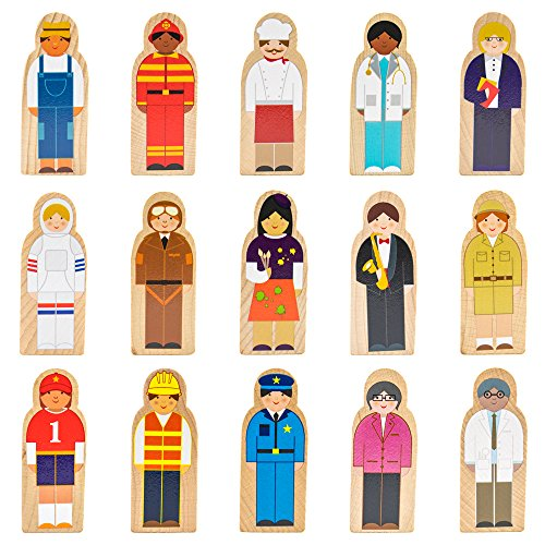 Little Professionals Wooden Character Set (15 pieces) by Imagination Generation Character Toys