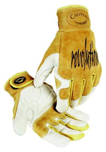 Kevlar-Seamed Multi-Task Welding Gloves 1828 (Medium/Yellow) by Caiman