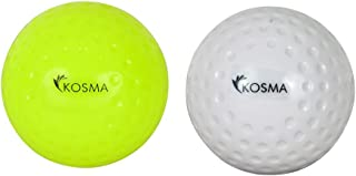 KOSMA Lot de 2 PC Dimple Hockey Boule – Blanc, Orange Montstar Global KG-21870