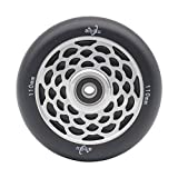 aibiku Hollow Core Pro Stunt Scooter Wheel 110mm Replacement Wheels with ABEC-11 Bearing-1pcs(Black)