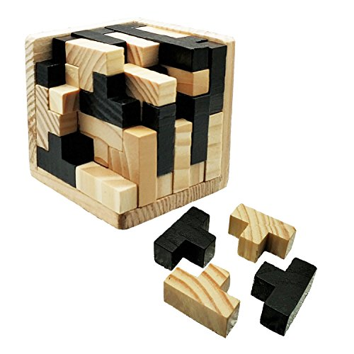 Powshop 3D Puzzle Brain Teaser Puzzle Russia Educational Tetris Shape Cube Genius Skill Builder Puzzle Toy with Tetris Fit Learning Jigsaw for Kids, Adults and Puzzle Enthusiasts -