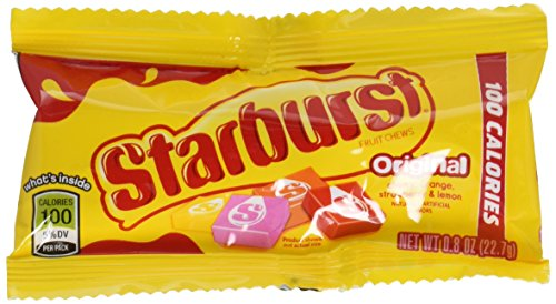 Starburst Original Fruit Chews Candy, 100 Calorie Packs