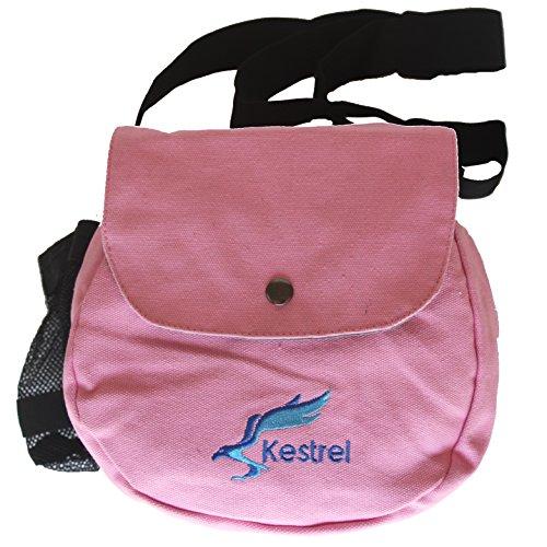 Pink Golf Golf Bag - Kestrel Disc Golf Bag | Fits 6-10 Discs + Bottle | for Beginner and Advanced Disc Golf Players | Extremely Durable Canvas | Disc Golf Bag Set | Frisbee Golf Bag