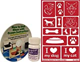 Glass Etching Kit, Pet Themed with Dog and Cat Stencils + How to Etch CD & Cream (10 oz)