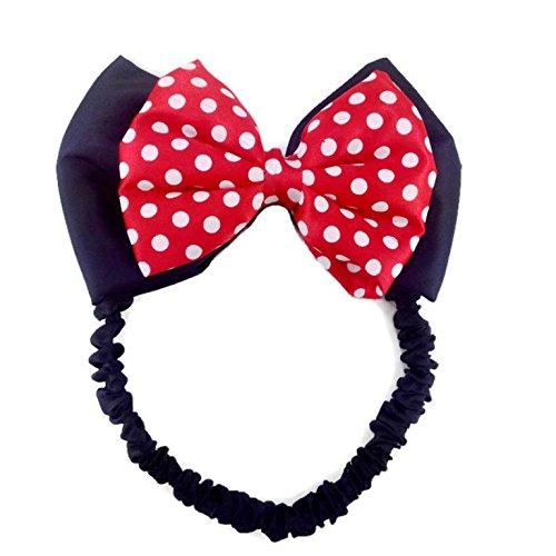 Disney Mickey Mouse Ears Baby Elastic Headband Costume Accessory :M3 (Mickey Bow) -