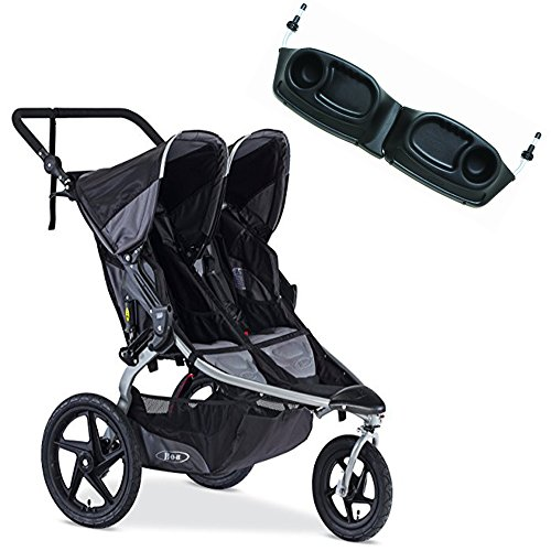 BOB Revolution Flex Duallie Stroller With Snack Tray Bundle (Black)