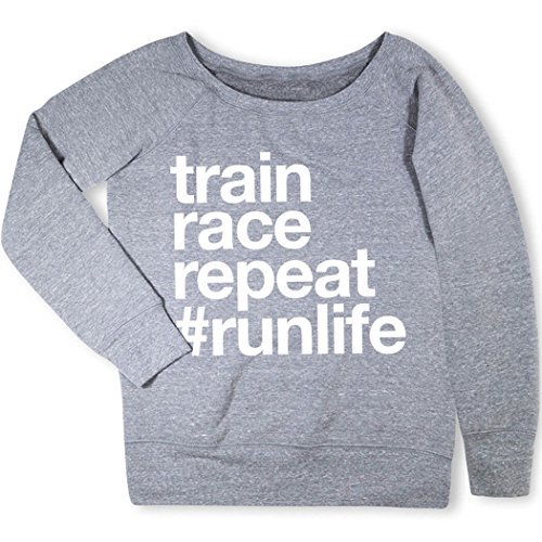 (Gone For a Run Train Race Repeat Sweatshirt Gray | Adult Medium)