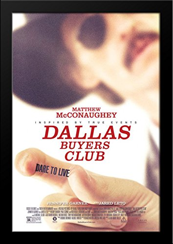 Dallas Buyers Club 28x36 Large Black Wood Framed Movie Poster Art - Galleria Of Dallas