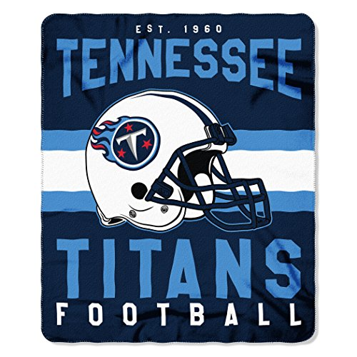 Tennessee Titans Blanket - The Northwest Company NFL Tennessee Titans Singular 50-inch by 60-inch Printed Fleece Throw