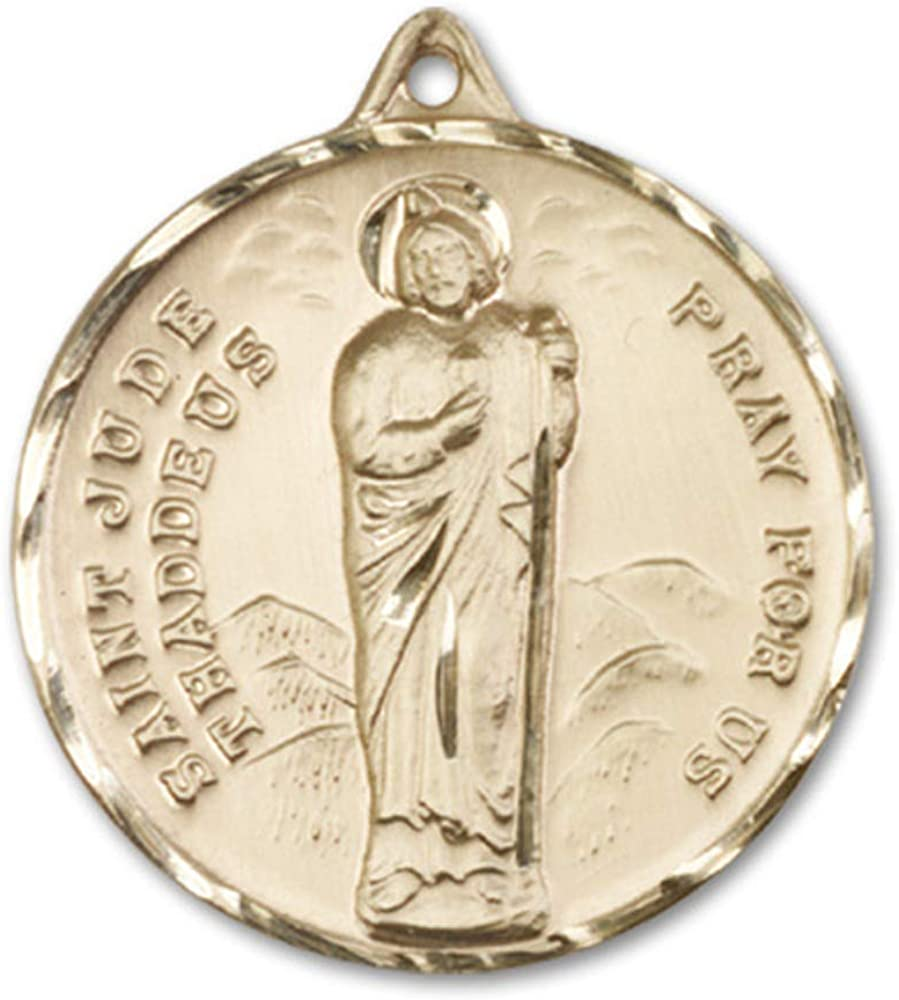 14kt Gold St Patron Saint of Desperate Situations Jude Medal