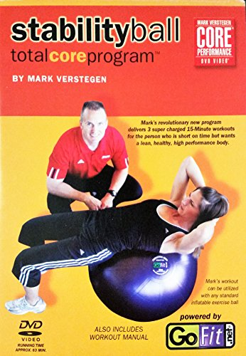 Cheap Core Fitness Total Core Program Stability Ball DVD With Workout Manual