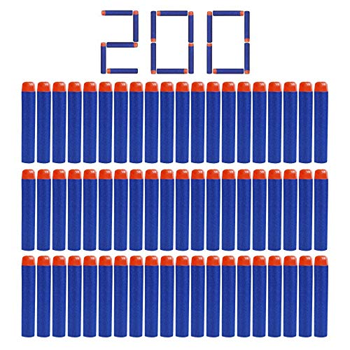 Camkey 200 Nerf N Strike Blaster Kid Toy Gun Compatible Darts Bullets