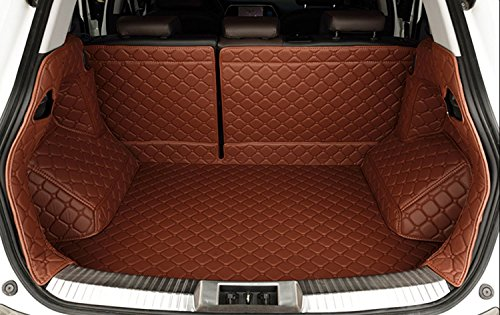 Auto Mall Custom Fit Full Covered Trunk Mats for Volkswagen Touareg(Brown)