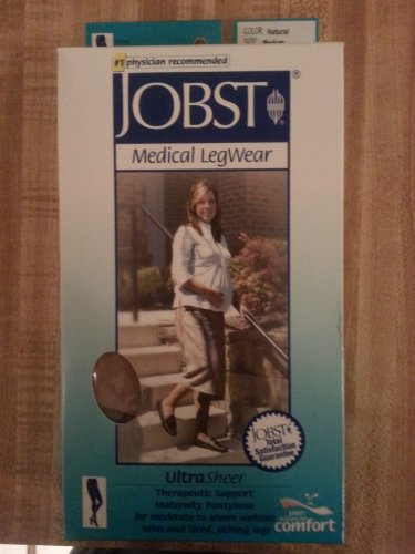 BSN Medical 121536 Jobst Ultra Fresh Compression Stocking with Closed Toe, Maternity, 20-30 mm HG, Medium, Natural