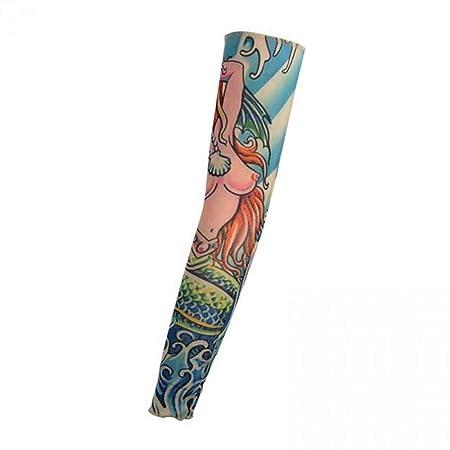 4pcs Protección de la Piel Estiramiento Tatuaje Manga Brazo Medias ...