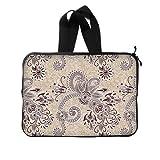 Paisley Laptop Bag - 15 15.6 inch Beige Brown Oriental Iranian Paisley Handle Laptop Sleeve Bags for Notebook,Macbook Pro,Macbook Air