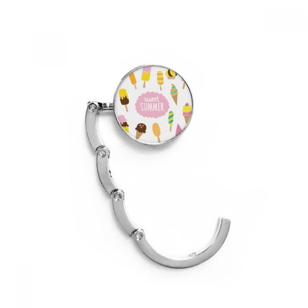 Diverse Sweet Summer Ice Cream Table Hook Folding Bag Desk Hanger Foldable Holder