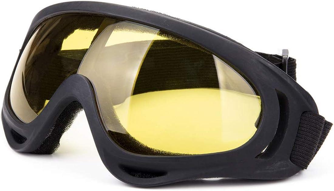 DODOING - Gafas de esquí unisex con protección contra el viento, 100% UV, para ciclismo, motocicleta, motos de nieve, esquí, deportes al aire libre