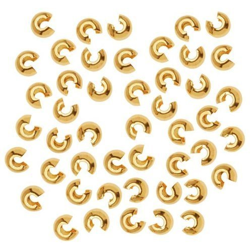 Gold Tone Crimp Bead - 1