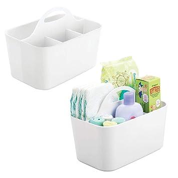 mDesign boîte de rangement pour la chambre d\'enfant avec 4 sections ...