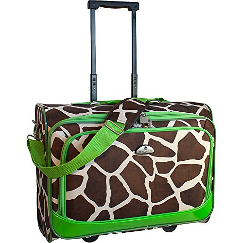 american-flyer-luggage-animal-print-underseater-giraffe-green-one-size