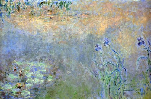 Art Oyster Claude Oscar Monet Water-Lily Pond with Irises - 18.1