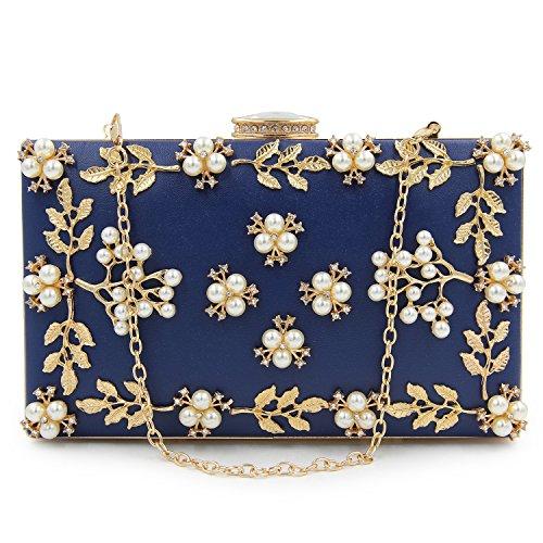 Main Mode KYS 8 Sacs Blue Sacs Option Couleurs Soirée à Femme Pochette perlée en Mariage Embrayages Femmes ttwfqrP