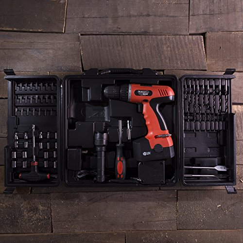 Cordless Drill Set-78 Piece Kit, 18-Volt Power Tool with Bits, Sockets, Drivers, Battery Charger, AC Adapter, Flashlight and Carrying Case by Stalwart by Stalwart (Image #4)