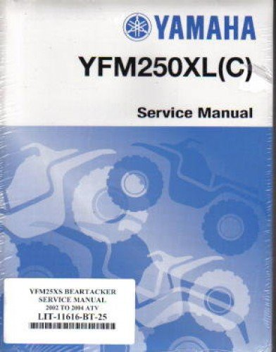 LIT-11616-BT-25 2001-2004 Yamaha YFM250 Beartracker ATV Service Manual ebook