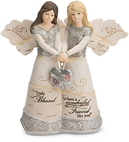 "Pavilion Gift Company 82417 Elements Angels - Truly Blessed To Have A Wonderful Friend Like You 5"" Double Angel Figurine"