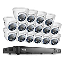 ANNKE 16CH 1080P HD-TVI H.264 Realtime DVR Security Camera System NO HDD included With (16)HD 1080P CCTV Dome Cameras,Weatherproof IP66,Night Vision, Remote Access and More