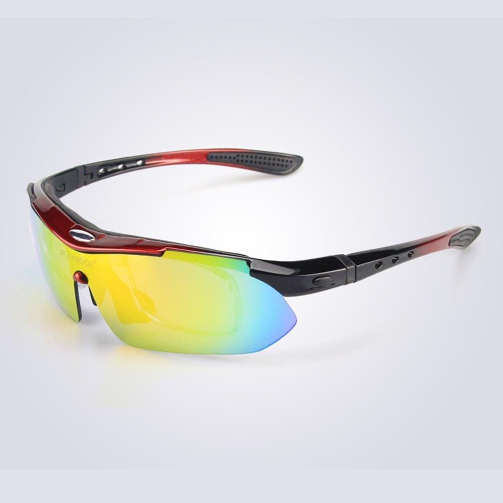 Männer und Frauen Polarisierte Sonnenbrillen Outdoor Sports Anti-UV-Brille Winddicht Brille für Reiten Klettern und Skifahren , Black