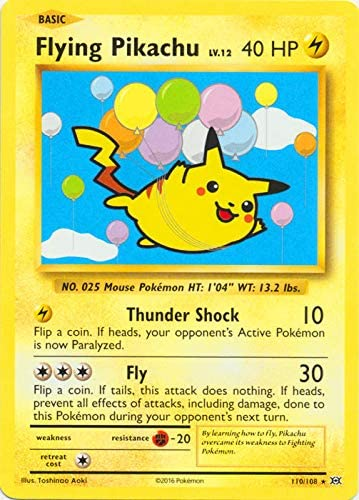 Flying Pikachu Pokémon Card