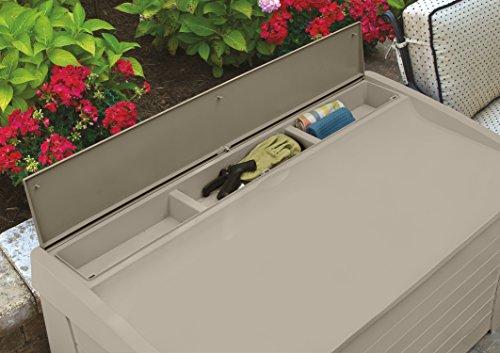 Suncast DB12000 Deck Box, 127-Gallon